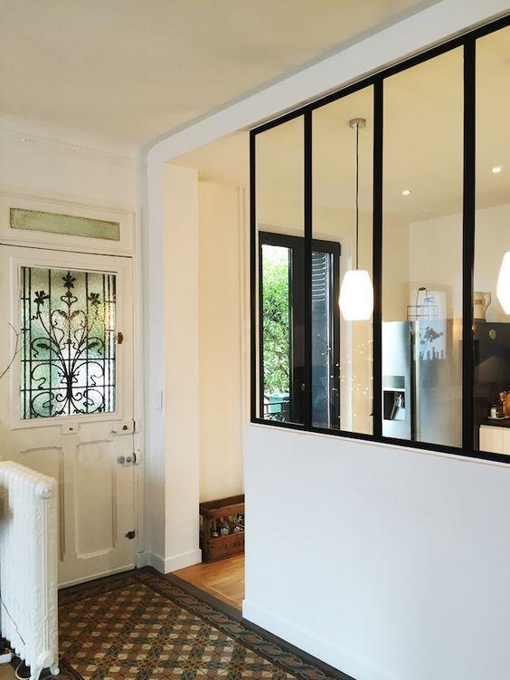 La verrire apporte une touche moderne et industriel aux maisons les plus classiques