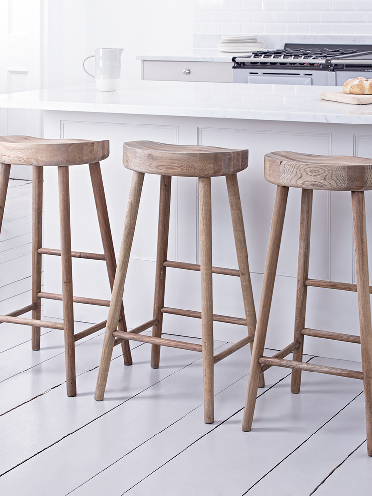 Our Simple Elegant Stool Is Beautifully Crafted From Weathered Oak With A Carved Seat For