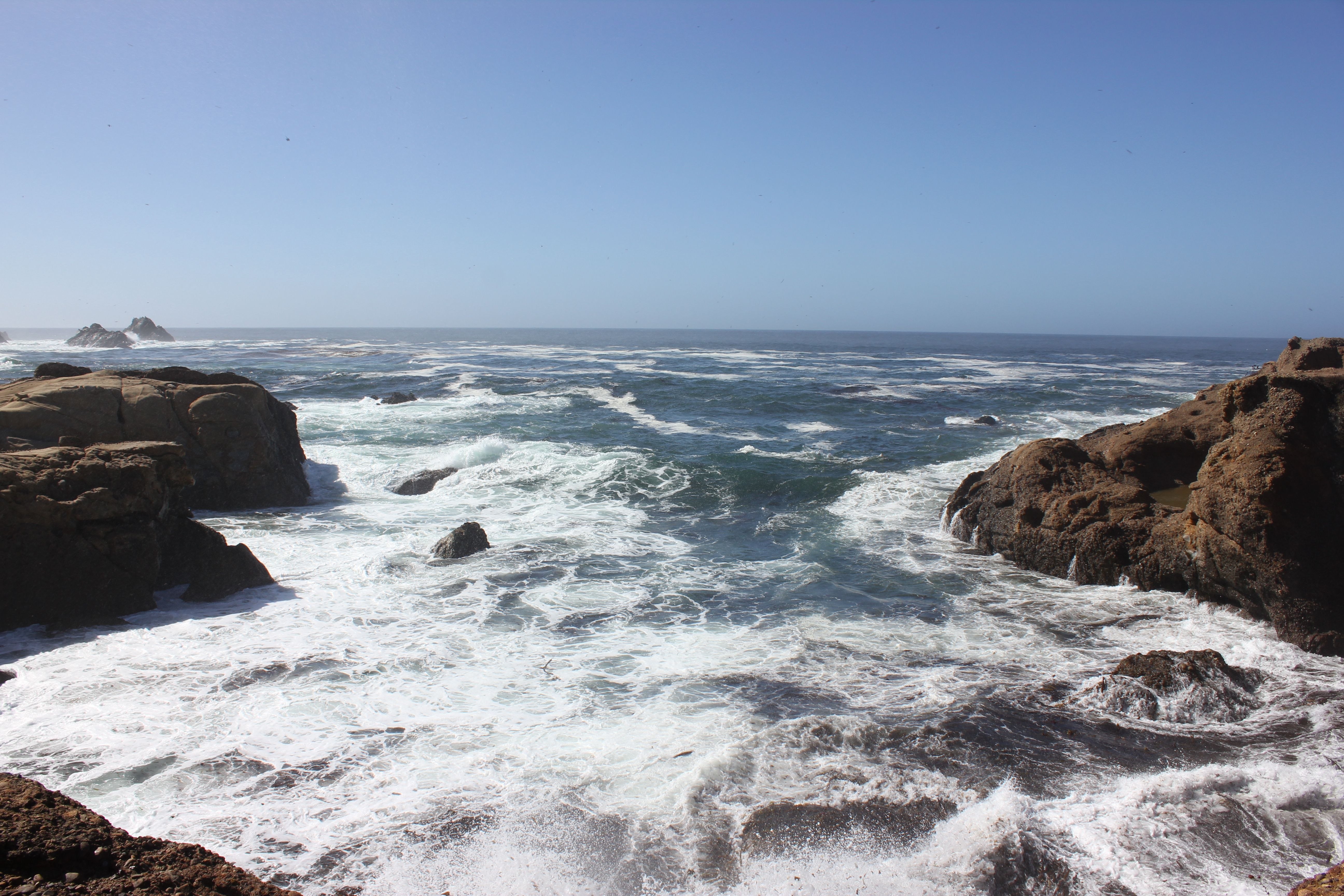 Waves Crash Into The Monterey Coastline At Point Lobos State Reserve Perfect Place For