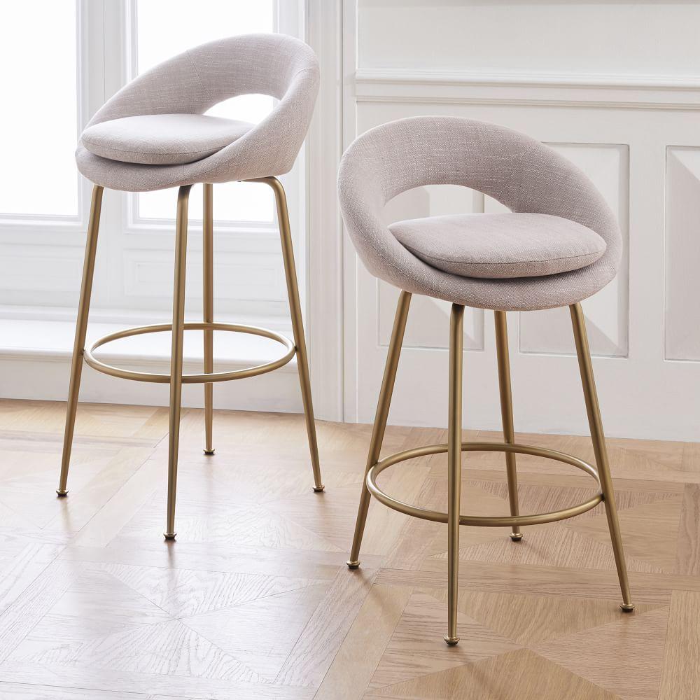 Orb Upholstered Bar & Counter Stools   Designer bar stools, Modern ...