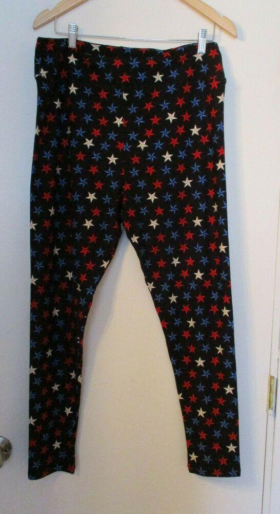 fbb8e9177596df LuLaRoe Womens Plus Size TC2 Tall Curvy Pull On Leggings Stars Red White  Blue #LuLaRoe #Casual