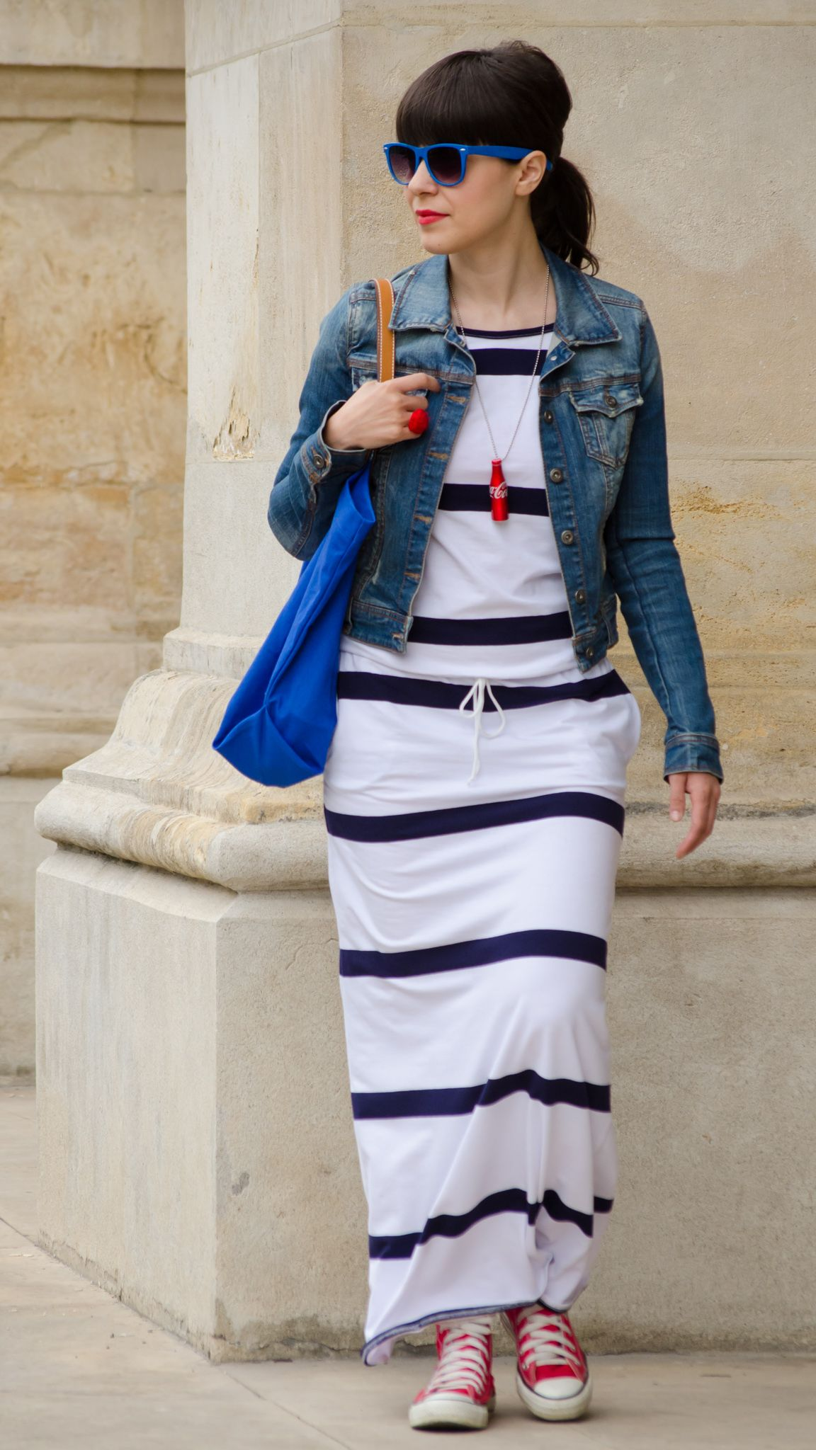 Maxi stripes dress for summer holiness all about the clothes