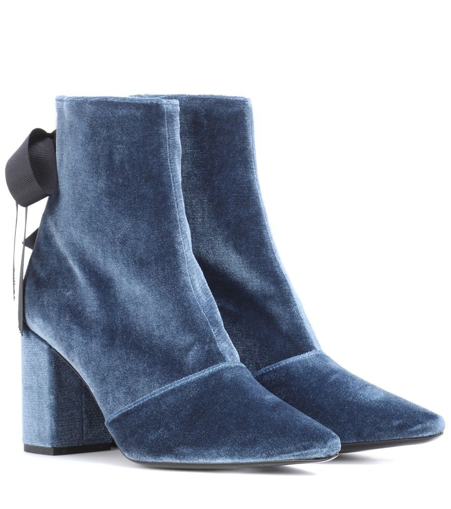 Self-Portrait Velvet Ankle Boots