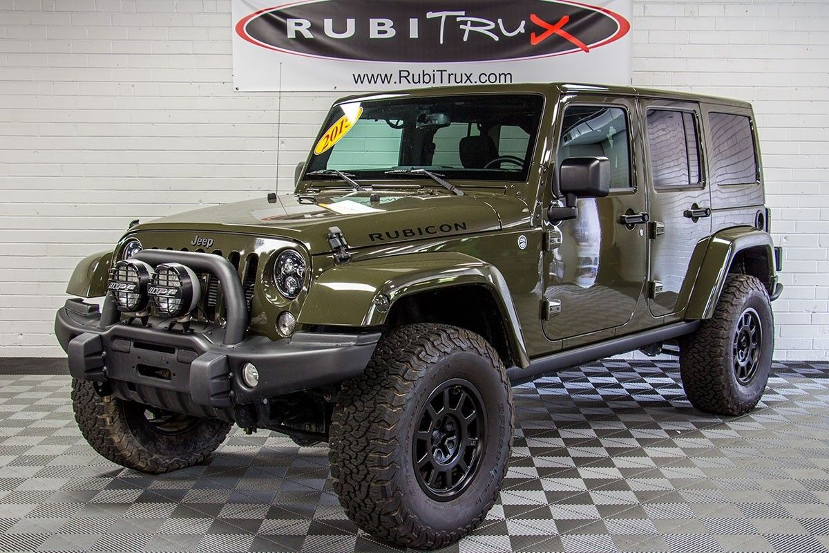 PreOwned 2015 Jeep Wrangler Rubicon Unlimited Tank Green