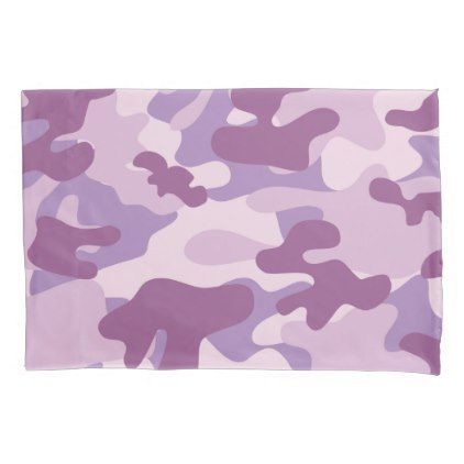 Purple Lilac Color Camouflage Pattern Pillowcase - home gifts cool custom diy cyo