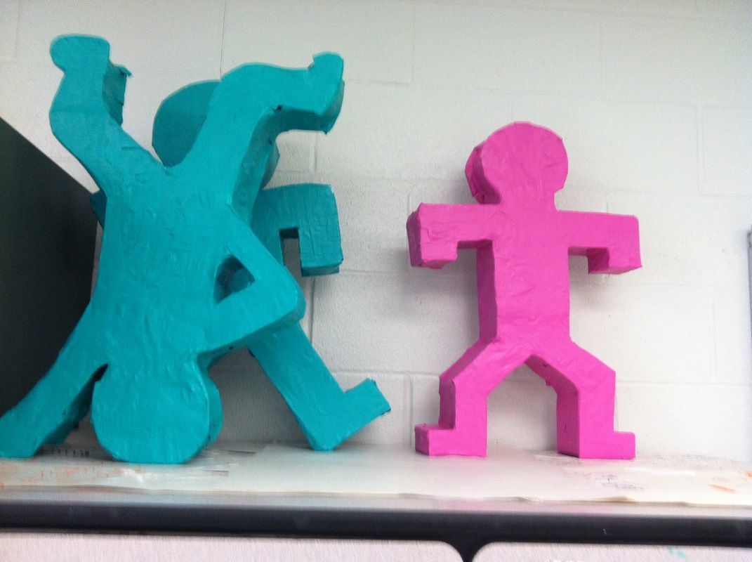 Students In Mixed Media Stu D Pop Artist Keith Haring