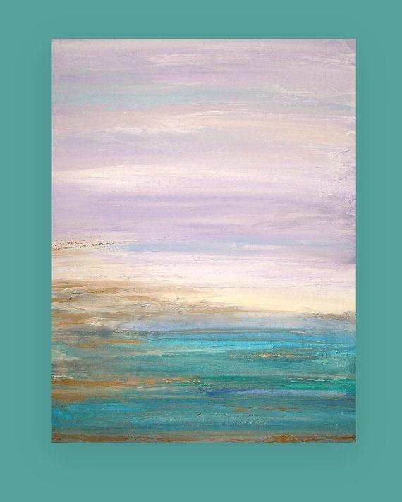 Arte Original acrílico pintura abstracta por OraBirenbaumArt