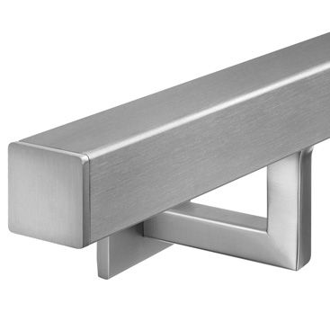 Best Stainless Steel Square Handrail With Angle Plate Bracket 400 x 300
