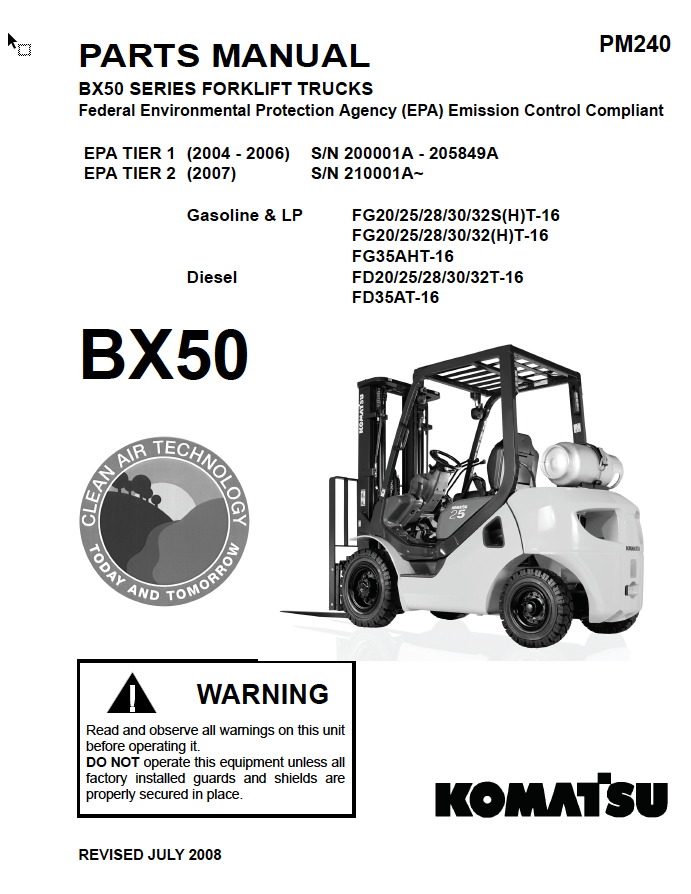here is instant access to the most common komatsu forklift parts manuals   we have the pdf you need to fix your fork truck
