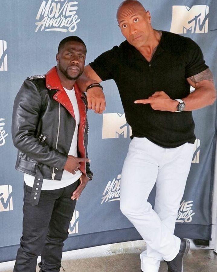 Kevin Hart And Dwayne Johnson The Rock Dwayne Johnson
