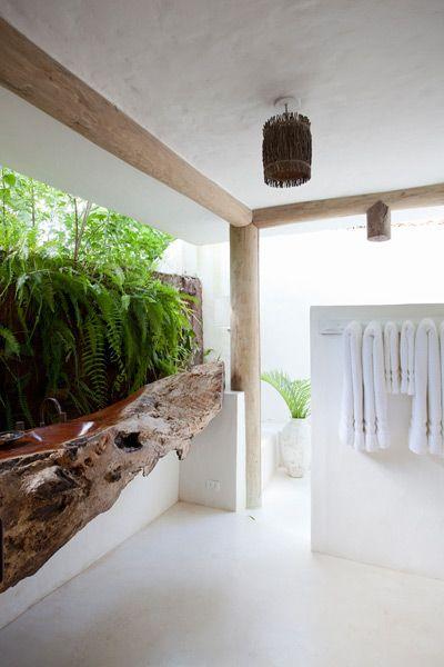 Une belle id e pour une salle de bain design foug res salle de bain design deco salle de - Une belle salle de bain ...