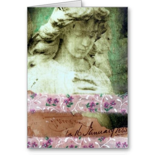 Angel Mixed Media Collage Greeting Cards
