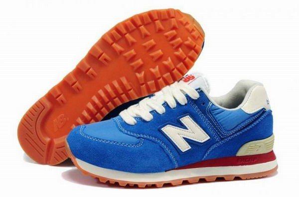 Joes New Balance 574 WL574CBL Blue White Womens Shoes