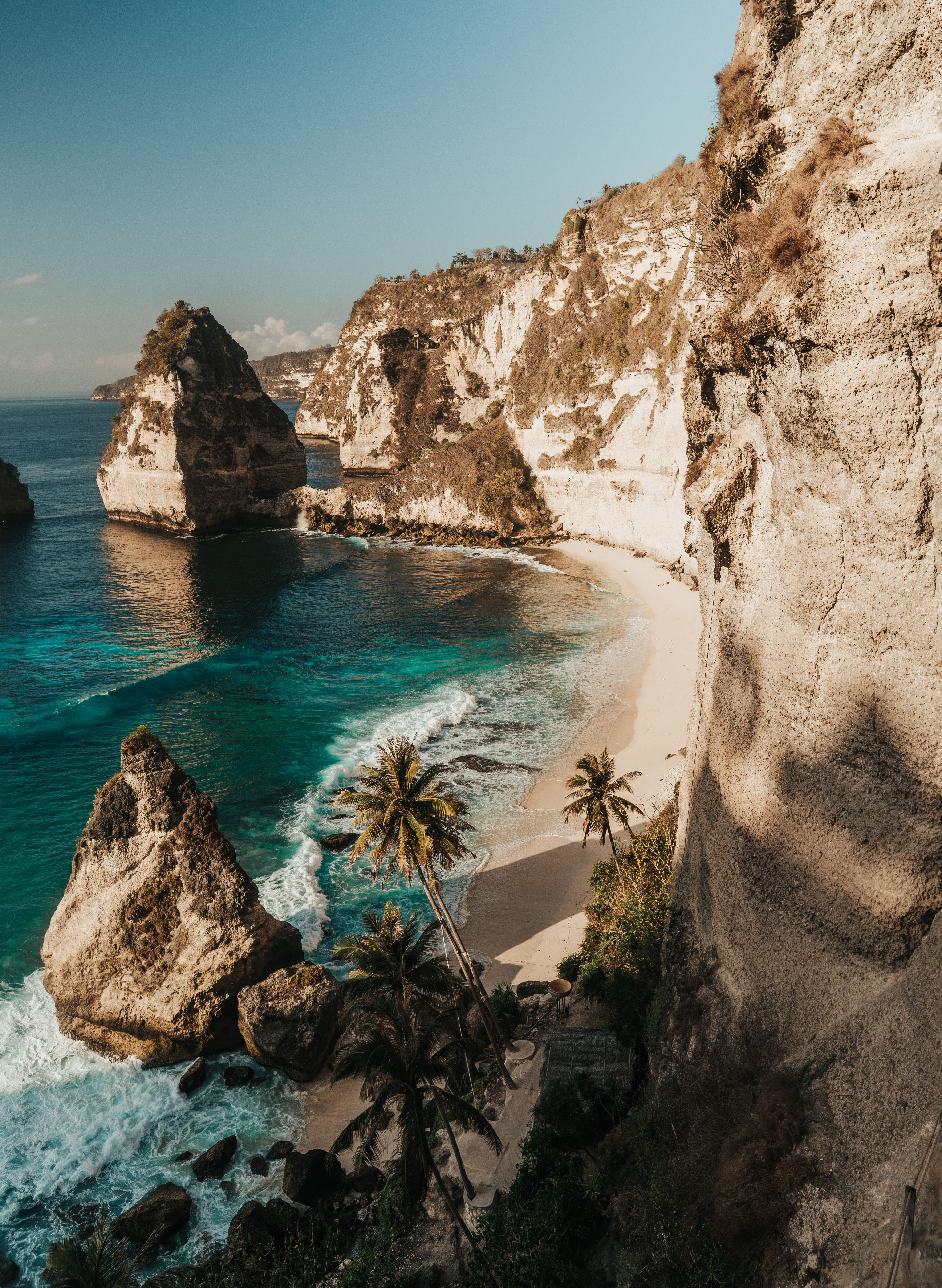 Nusa Penida is a tropical paradise full of adventures located an hour away from Bali. Here you will find the most breathtaking scenery, viewpoints, crystal clear water and majestic sea creatures you can swim with. It is the perfect place to retreat to if you're wanting to get away from the bustling Bali vibes.