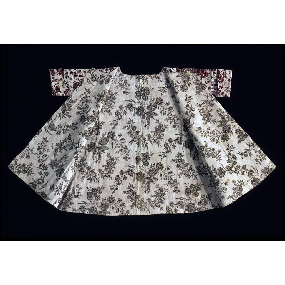 Short gown, block printed  1775-1815