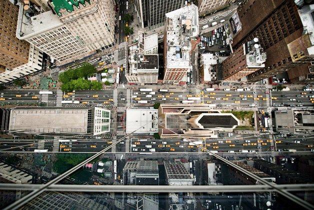 Een luchtfoto van New York City gemaakt door Navid Baraty.