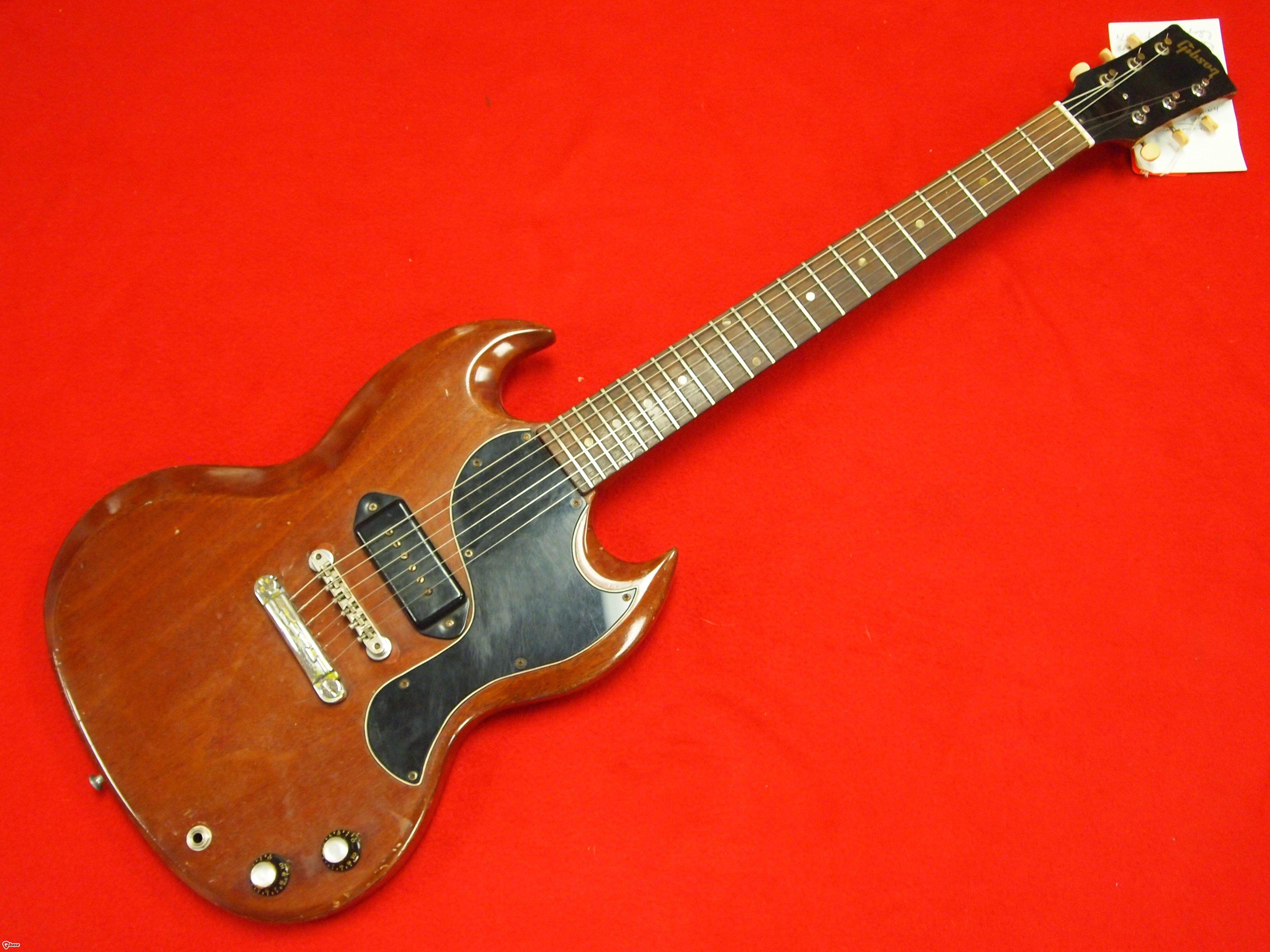 hight resolution of 10 0973 1964 sg junior neck 1 piece mahogany body 1 piece mahogany nut original tuners original kluson deluxe frets original pickup original dogear
