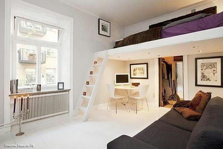 Saving space Bed loft For the Home Pinterest Lofts, Spaces