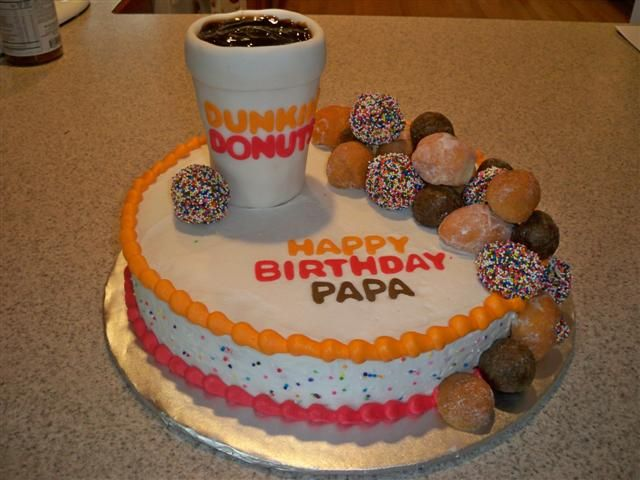 Fabulous Cakespy For Craftsy Coffee Themed Cakes Dunkin Donuts Cake Funny Birthday Cards Online Elaedamsfinfo