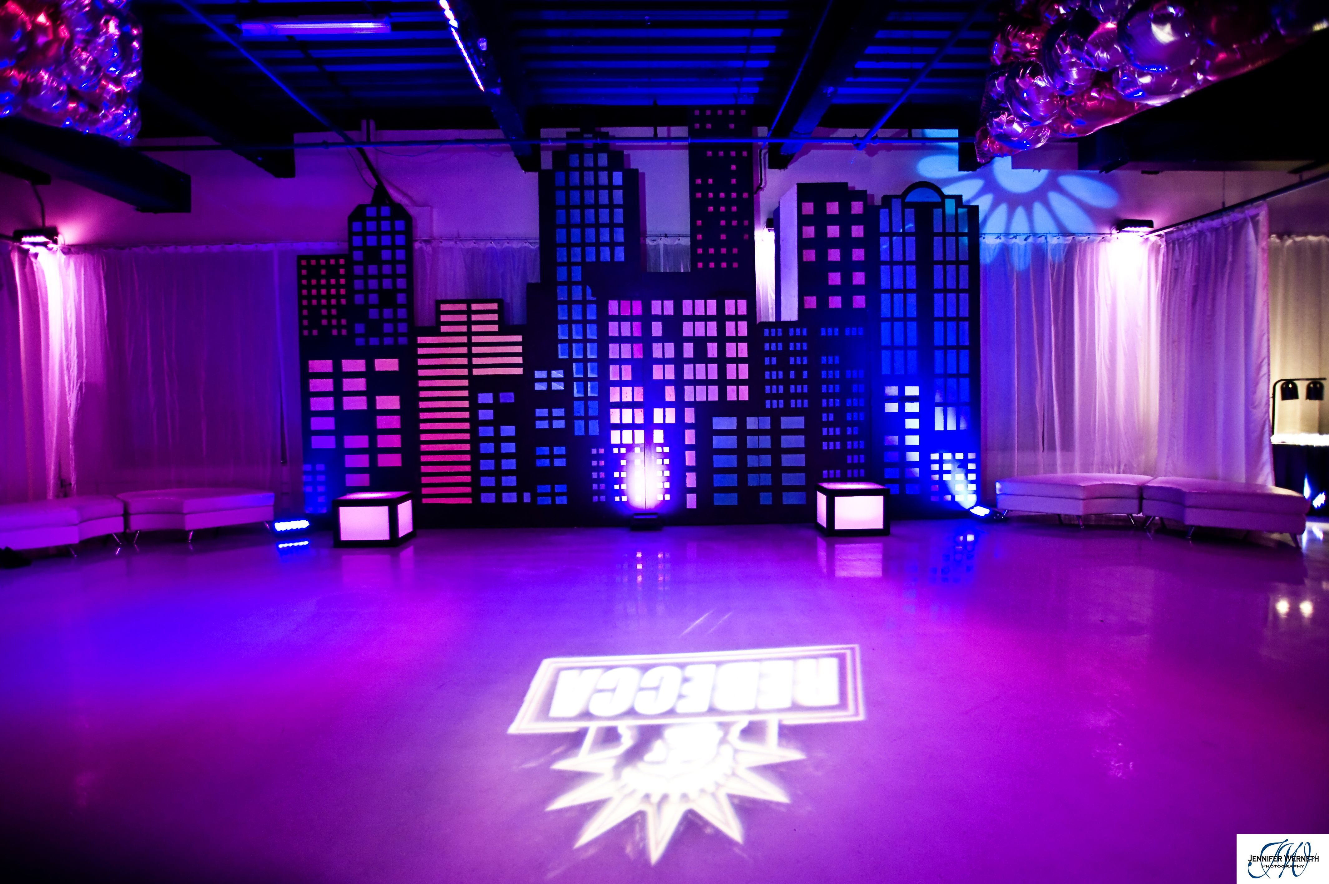 New york themed mitzvah heaven event center social for New york city decor