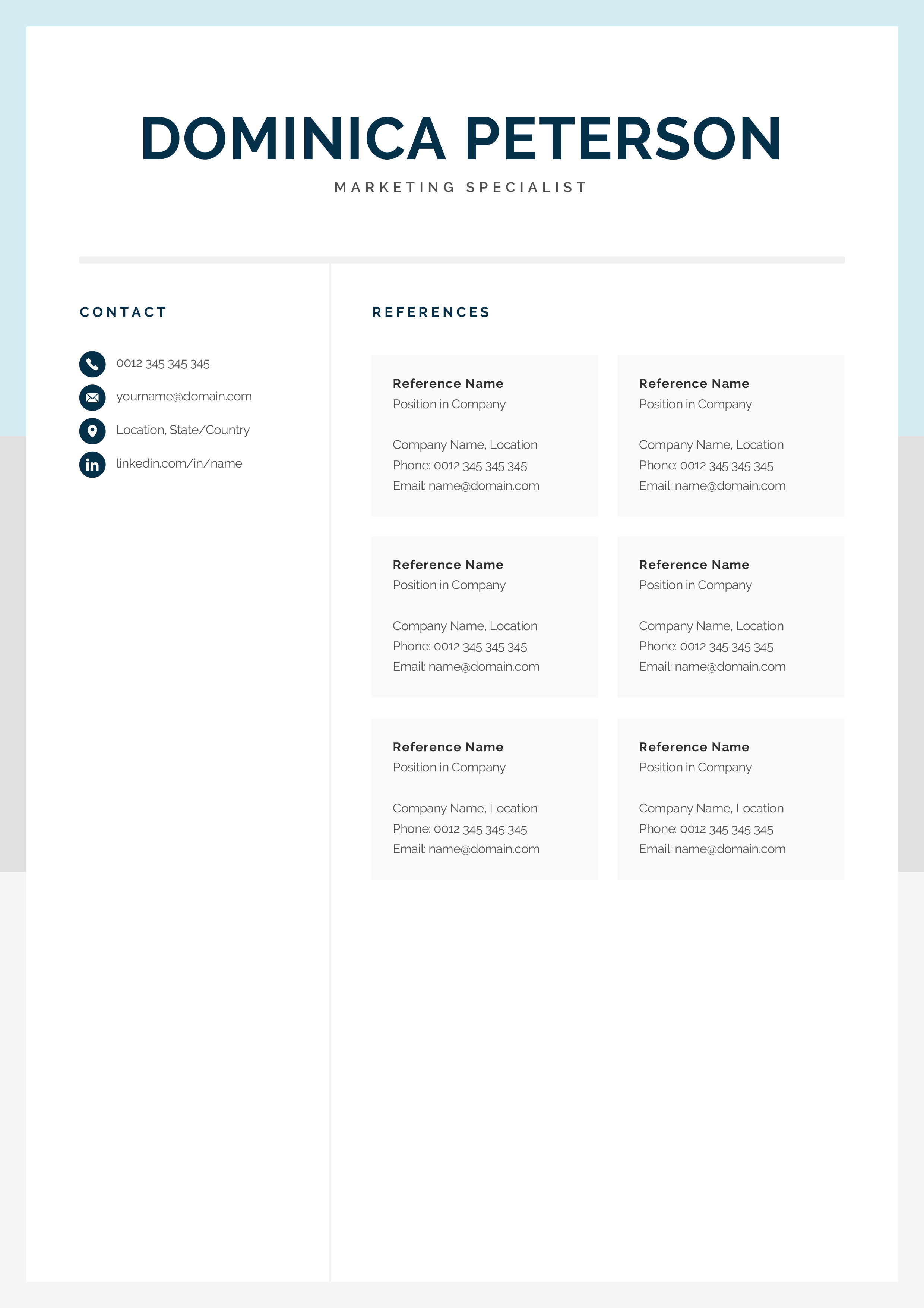 How To Make A Resume On A Mac Modern Resume Template Creative Cv Design 1 2 Page