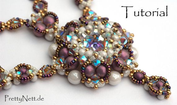 Beading Pattern for necklace Alhambra (26 pages, with photos and text) in pdf-format.