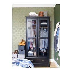 Awesome UNDREDAL Kleiderschrank schwarz graues Glas schwarz graues Glas IKEA