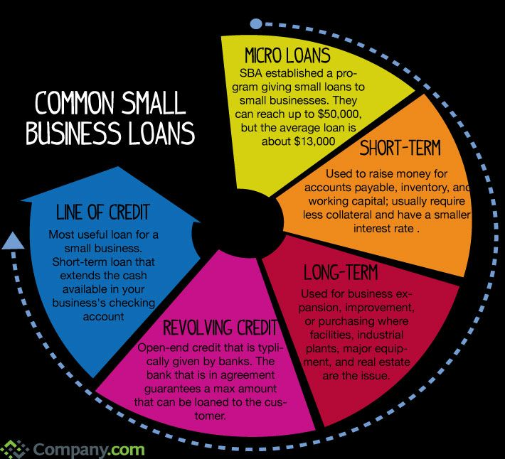 Common Small Business Loans Visual Ly Business Loans Small Business Loans Small Business Finance