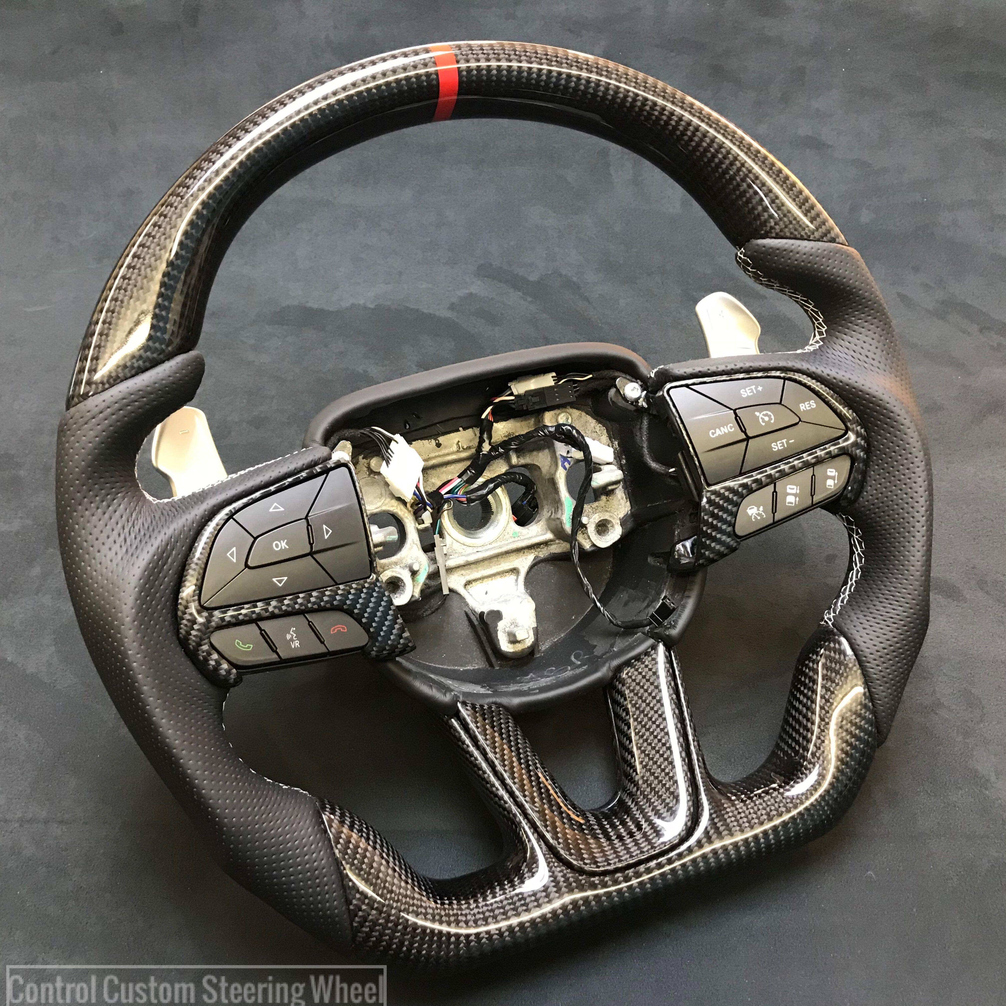Dodge Srt8 Custom Steering Wheel Full Reshape Carbon Fibre Top