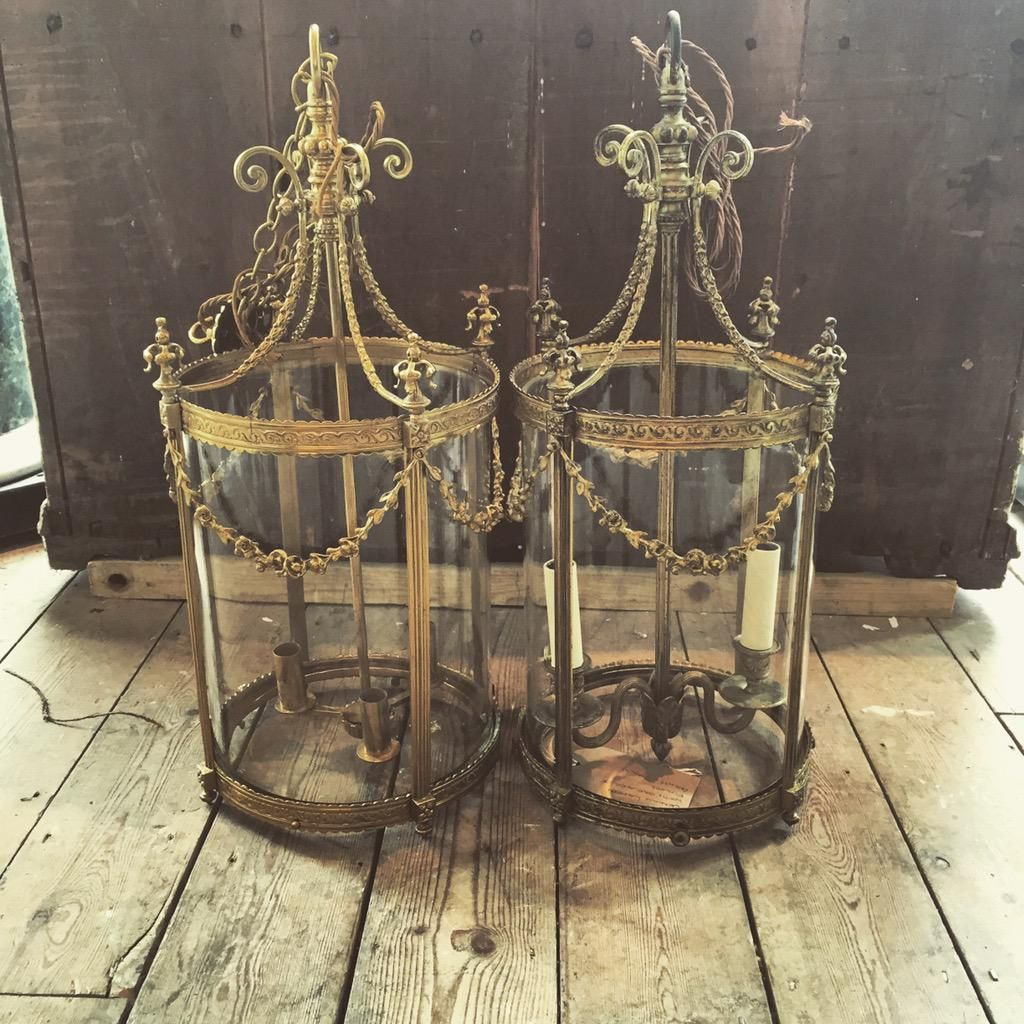 Now have a pair. #lantern #antique #lighting