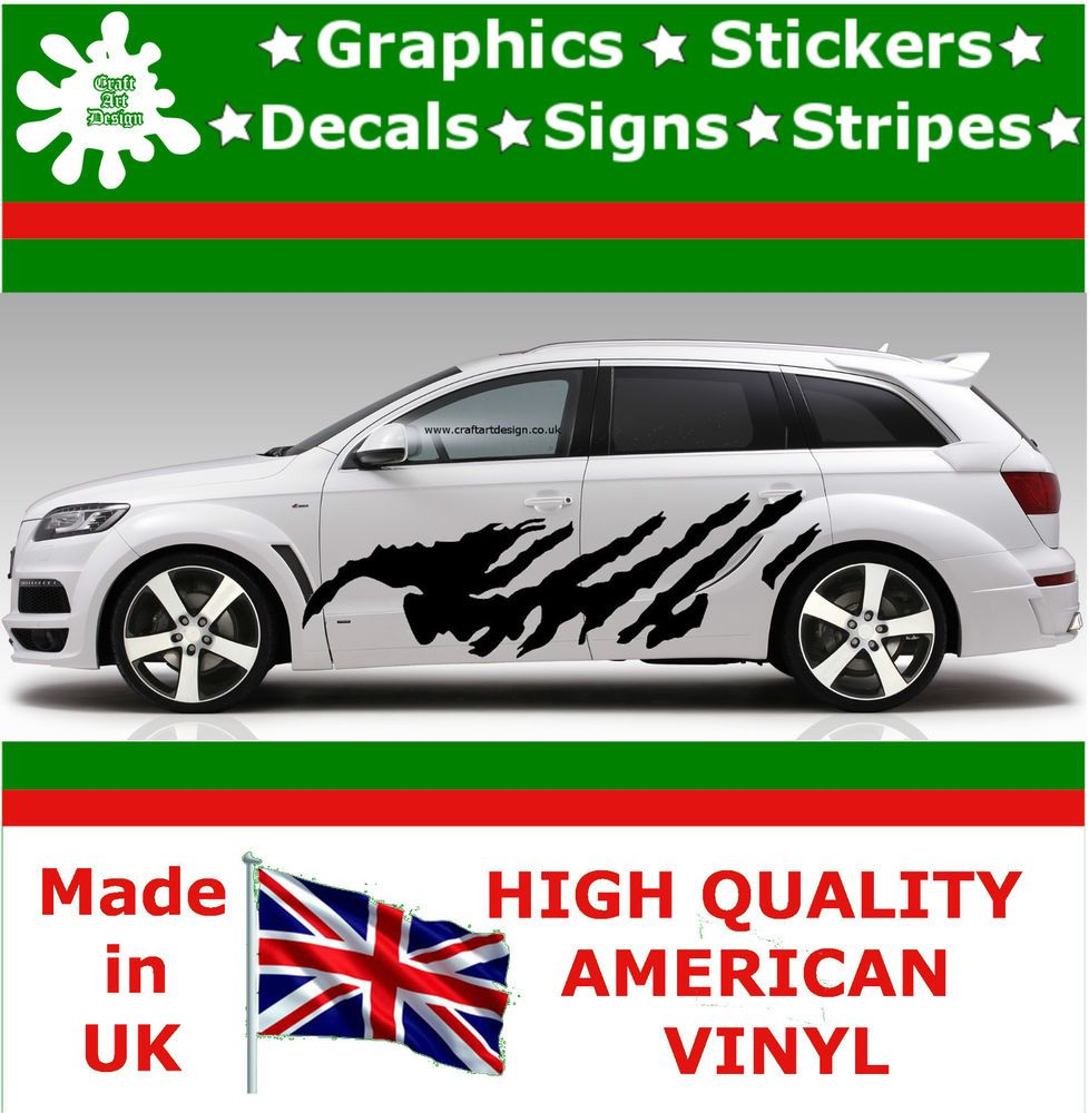 Details About  High Car Side Stripes Graphics Decal Vinyl - Vinyl stickers on cars
