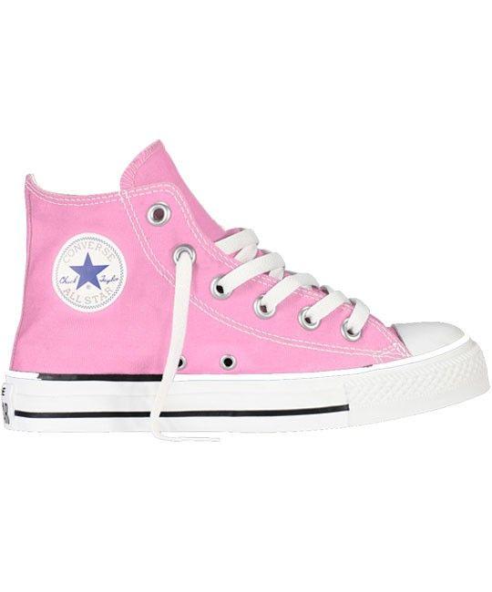 converse all star core hi toddler infant plimsolls pink