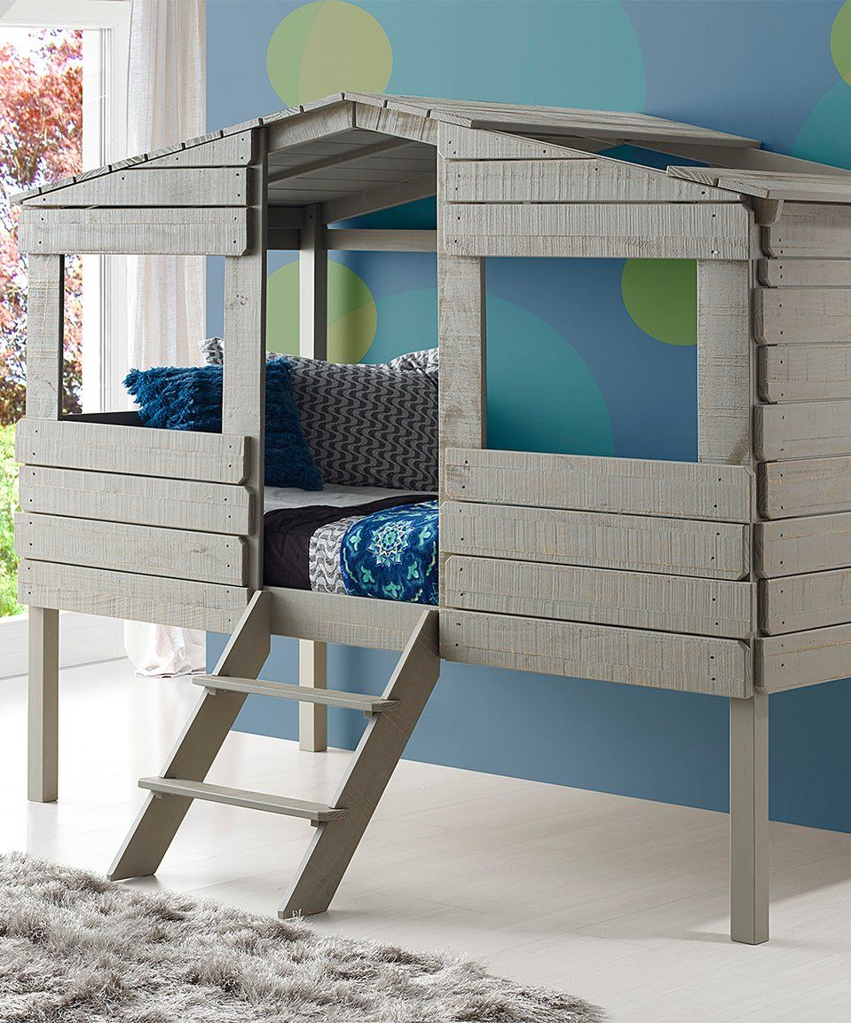 Loft bed bedroom  Take a look at this Donco Kids Rustic Gray Tree House Loft Bed today