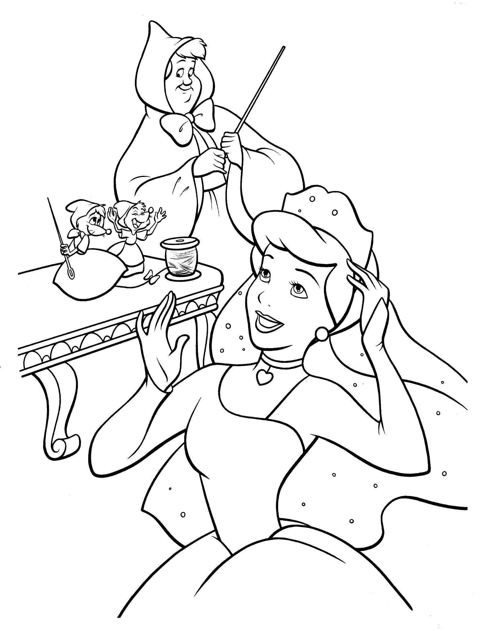 disney cinderella coloring page  malvorlagen vorlagen