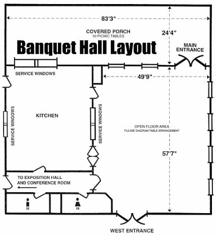 Banquet hall layout page strictly business pinterest for Banquet hall floor plan