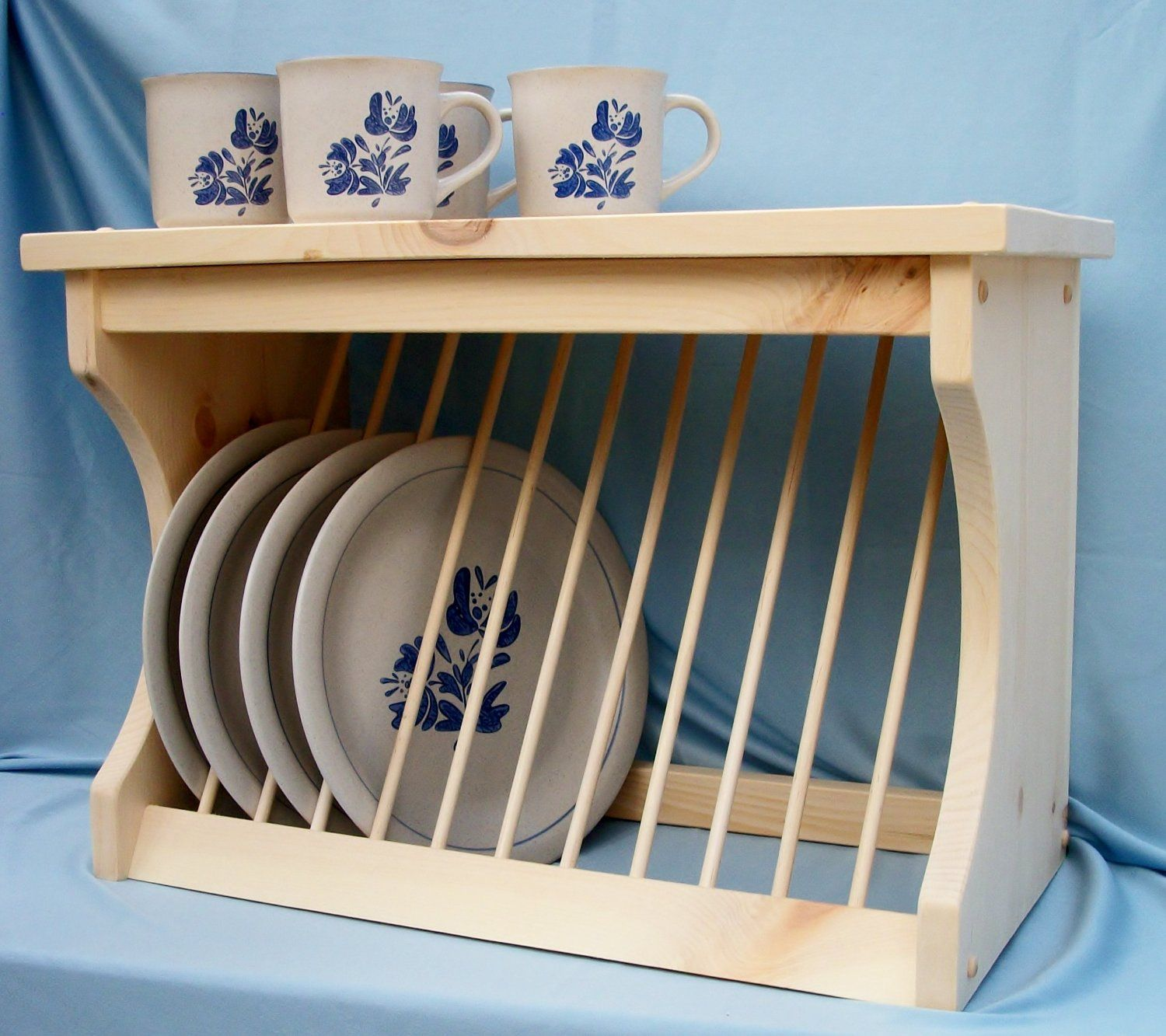 Kitchen Cabinets Plate Rack: Amazon.com: Wood Plate Rack Dish Organzier: Home & Kitchen