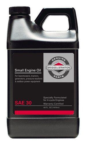 Briggs Stratton 30w Engine Oil 48 Oz 100028 2016 Amazon Top Rated Oils Fluids Lawn Patio Small Engine Briggs Stratton Oil Change