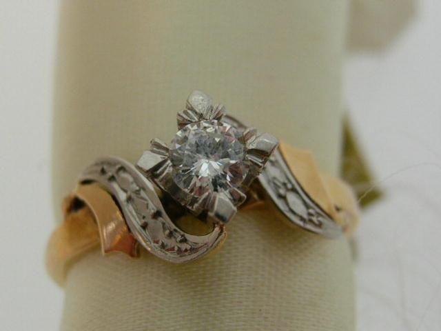Circa 1927 original antique diamond engagement ring