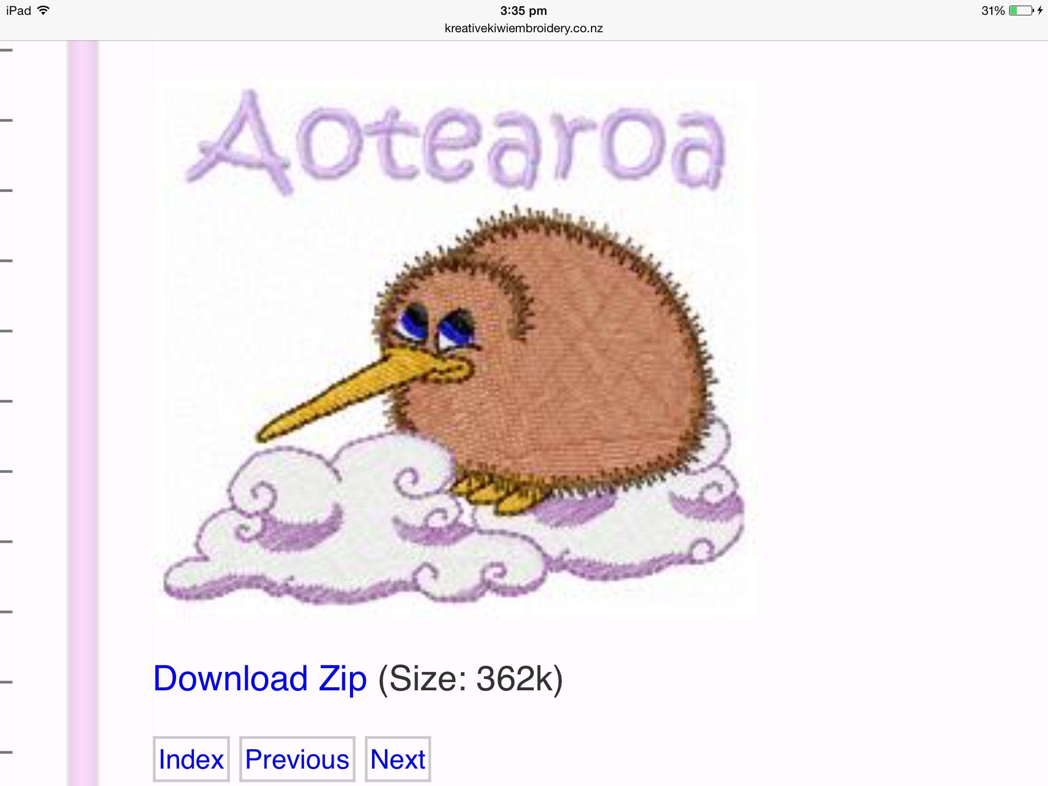 Kreative kiwi kiwi freebie | AUSSIE HERO - Embroidery | Free