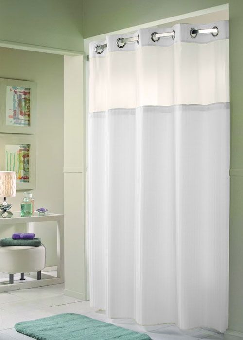 Hookless Shower Curtains It Takes Seconds To Install And Remove