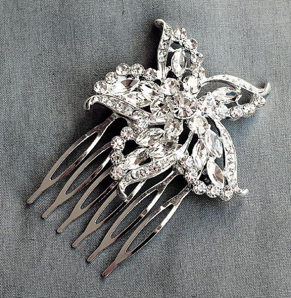 SALE Rhinestone Bridal Hair Comb Beach Wedding Jewelry Crystal Starfish Clip FREE Shipping US CM056LX on Etsy, $39.00