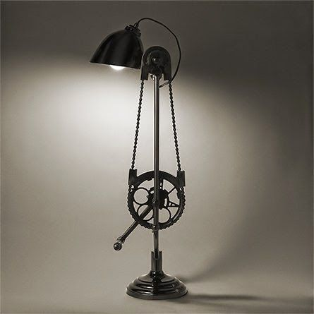 Really Cool Lamps the art of up-cycling: lamps made from bicycle parts- really cool