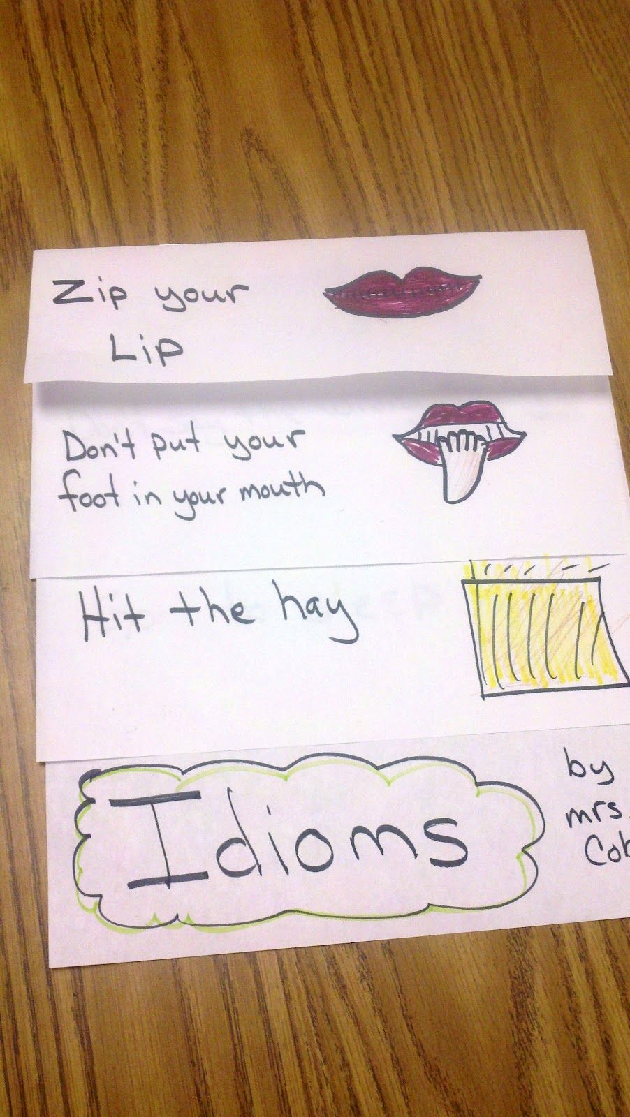 Idioms - ' 4 Weeks With Idiom