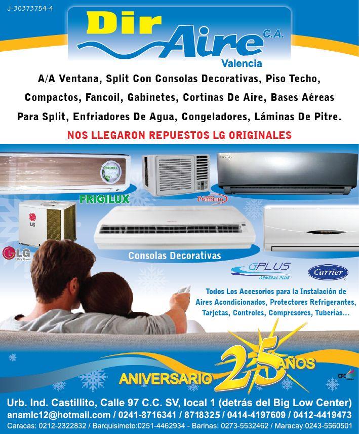 Dir aire repuestos equipos de refrigeraci n y aire for Repuestos de aire acondicionado