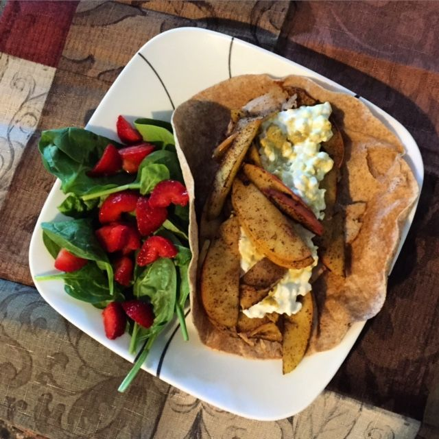Contest Winner: Fall Turkey Apple Wrap with Spinach Salad