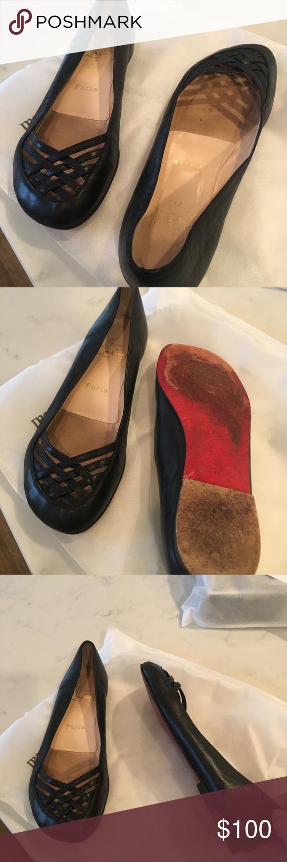 dc421ff3039 Christian louboutin flats- Good condition - most comfortable Christian  louboutin shoes Christian Louboutin Shoes Flats   Loafers
