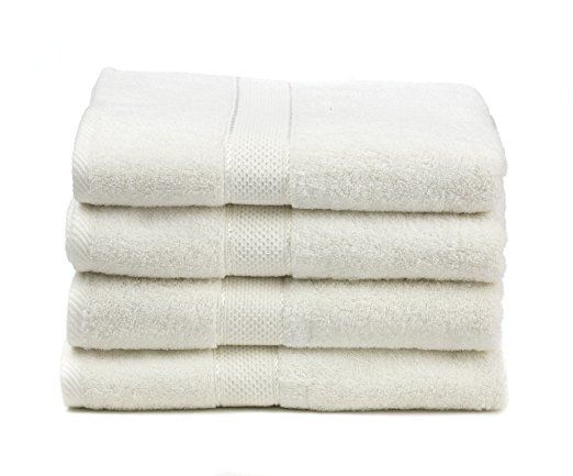 Amazon Com Premium Bamboo Cotton Bath Towels Natural Ultra