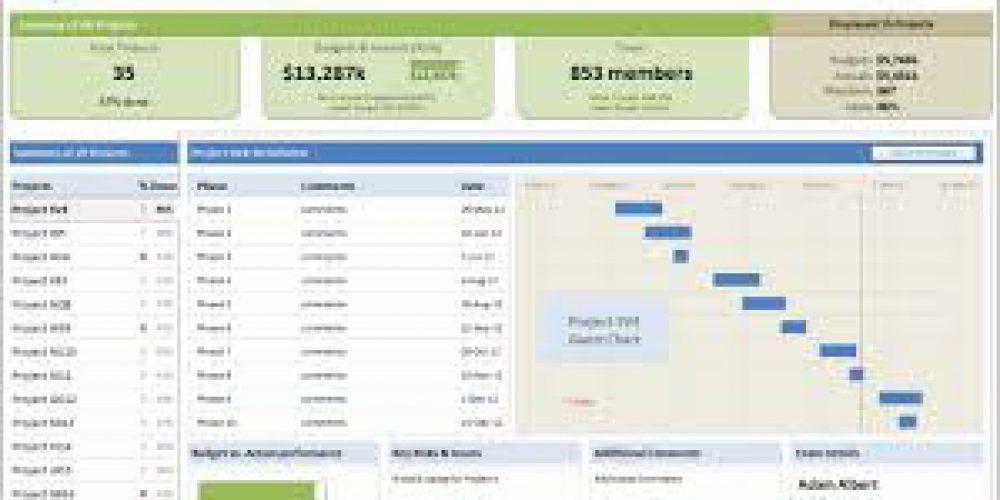 Dashboards Program Management Project Management Dashboard