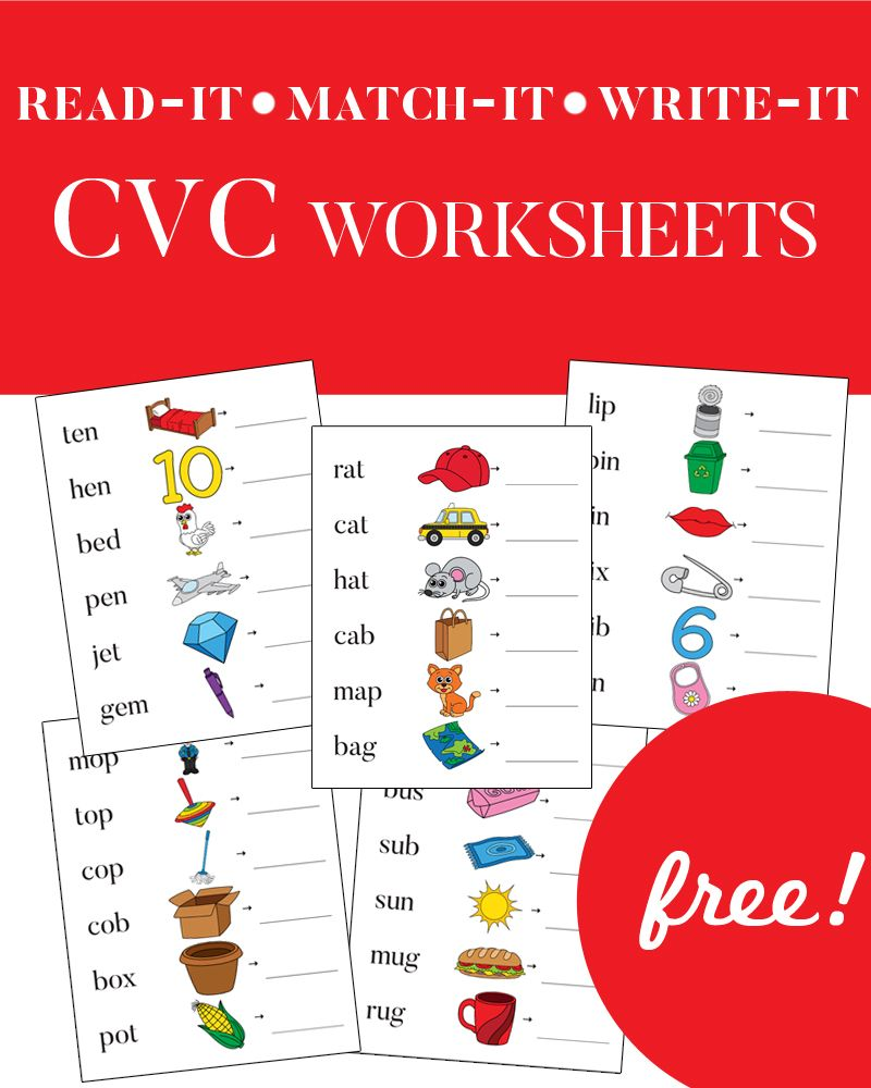 CVC Worksheets - Phonics for Kids  Student-centered resources  free worksheets, worksheets for teachers, math worksheets, grade worksheets, and multiplication Cvc Phonics Worksheets 2 1000 x 800