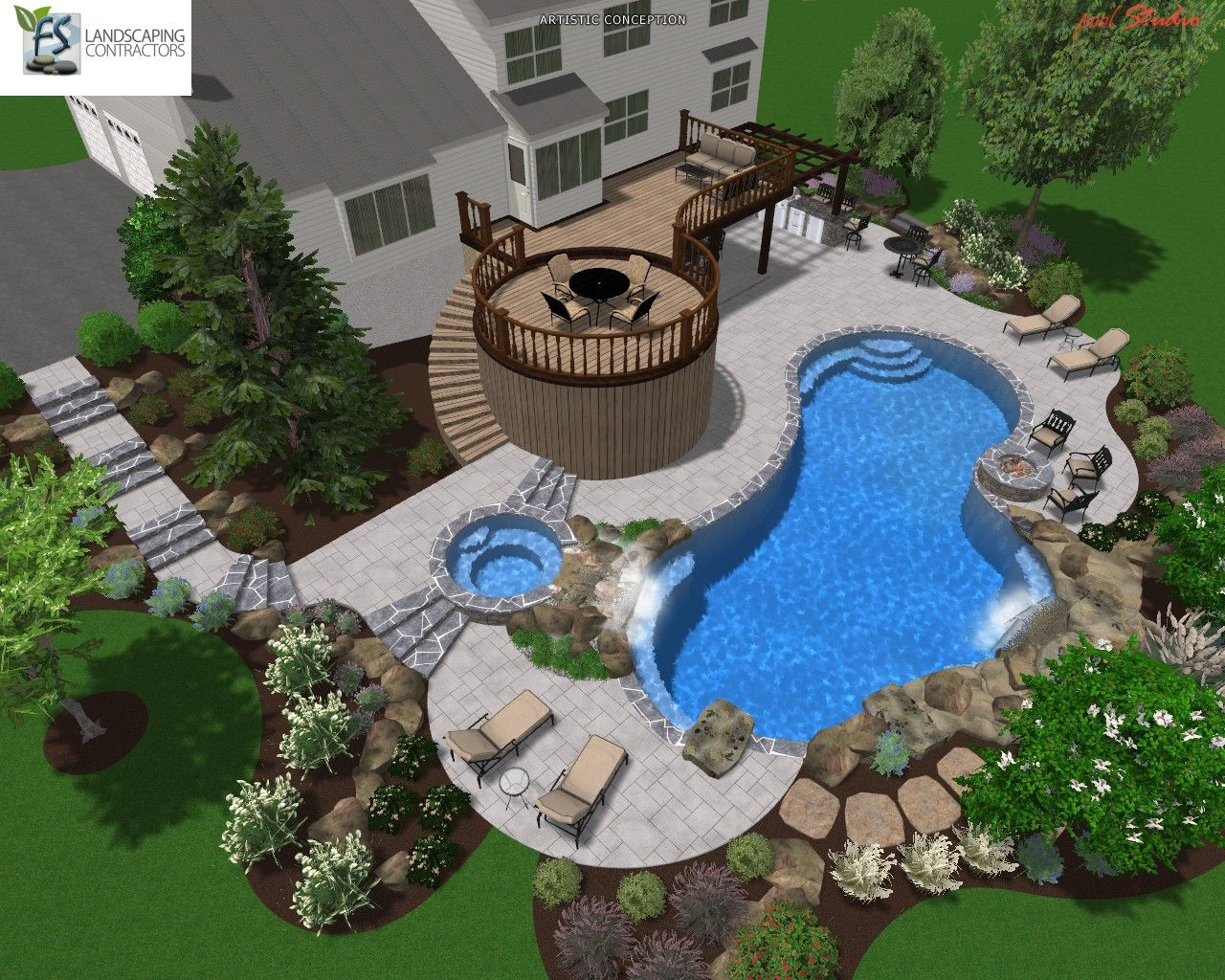 Custom Inground Swimming Pool Design In Montgomery County, PA